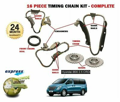 FOR HYUNDAI i800 2.5 DT CRDI  D4CB 2008-  NEW TIMING CHAIN KIT 16 PIECE COMPLETE