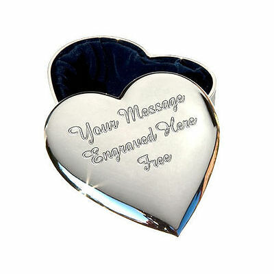 Personalised Engraved Heart Trinket Jewellery Box Mothers Day Gift