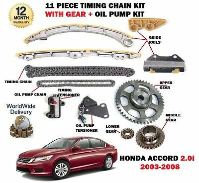 For Honda Accord 2.0 K20A6 2003-2008 Timing Chain + Gears + Oil Pump Chain Kit