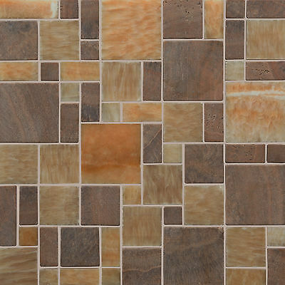 """6"""" Quality Stone Effect Mosaic Tile Sticker Transfers for Kitchen Bathroom JTP31"""