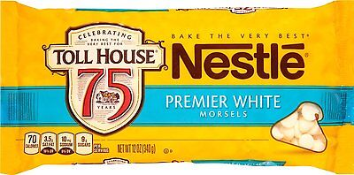 Nestle Toll House Premier White Baking Morsels 12 oz (3 Bags)