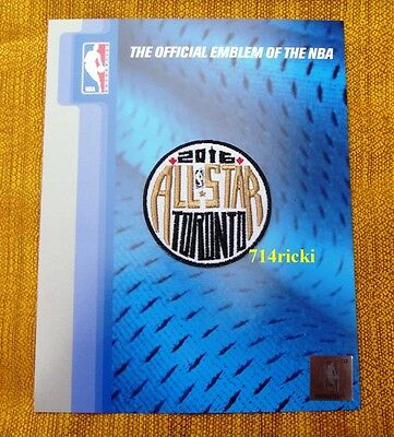 Official 2016 NBA All Star Game Toronto Raptors small alternate patch