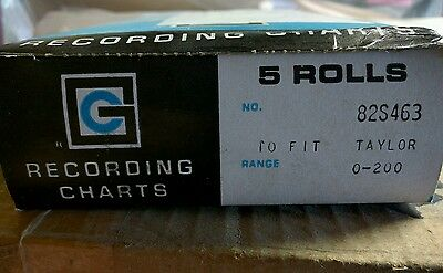 RECORDING CHARTS for Taylor 82S463 chart recorder paper a box of 5 rolls