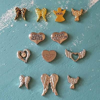 Your Choice of Angel Wings / Memorial Charm for Floating / Living Memory Locket