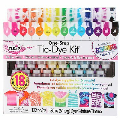Tulip One Step 18-Color Tie-Dye Kit model no 32378 Kit includes enough tie-dye