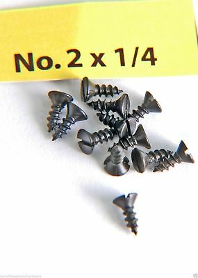 "Wood Screws Flat Head Slotted Steel #2 x 1/4"" WS214"