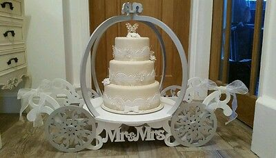 Cake Stand Carriage Mr & Mrs Wooden Princess Theme