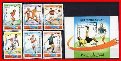 Afghanistan = France 1998 Football Cup + S/s Mnh Soccer, Sports