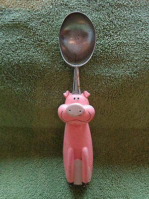 Vintage Pink Pig Icecream Scoop Very Used, Cute!