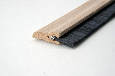Door Sweep Hardwood with Nylon Brush Unfinished Oak 36' DH01171610