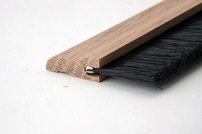 Door Sweep Hardwood with Nylon Brush Unfinished Oak DH01171609