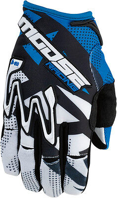 MOOSE Racing MX Motocross Offroad 2016 MX1 Gloves (Blue) 2XL (2X-Large)