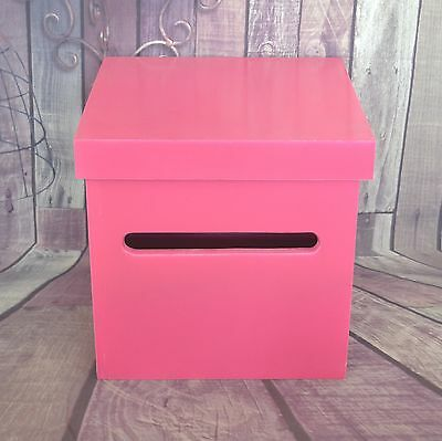Pink Wedding Wishing Well - wooden timber box - Engagement 21st card box