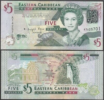 East Caribbean $5 Five Dollars, ND 2008, P-47, UNC
