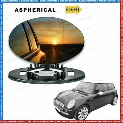 Right Driver side Wide Angle Wing mirror glass for Mini Cooper One 2001-06