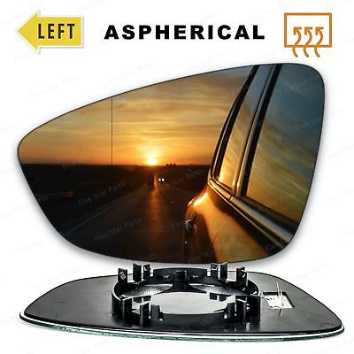Left side Wide Angle Wing mirror glass for VW Scirocco 2008-2017 Heated