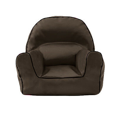 Brown Faux Leather Children's Bean Bag Arm Chair Seat Beanbag Playroom Nursery