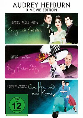 Audrey Hepburn - 3-Movie-Edition (Krieg und Frieden + My Fair Lady) # 3-DVD-NEU