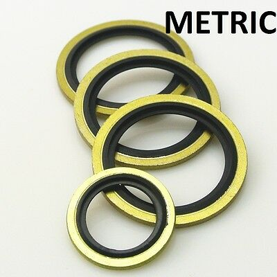 METRIC DOWTY BONDED SEAL M10 - M26 (10mm - 26mm) SELF CENTERING VARIOUS QTY'S