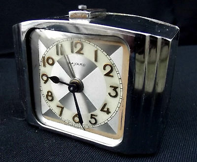BAYARD clock alarm desk  Art Deco design 1930's