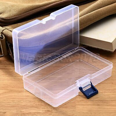 Transparent Plastic Storage Box Clear Square Rubber band Cosmetic Jewelry Box