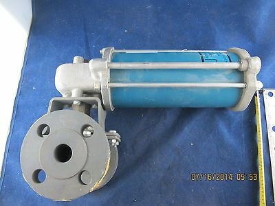 """1"""" Flanged Ball Valve With Pneumatic Actuator Jamesbury NEW AF ST20MS C3S2"""