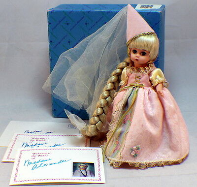 "Madame Alexander 8"" Doll Rapunzel Brother'S Grimm Series In Box 14542"