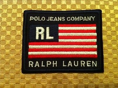 POLO JEANS COMPANY RL RALPH LAUREN US FLAG CLOTH PATCH & **Bonus Flag Sticker**