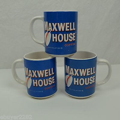 Vintage Maxwell House Mugs - Set of Three - Good to the Last Drop - USA Made
