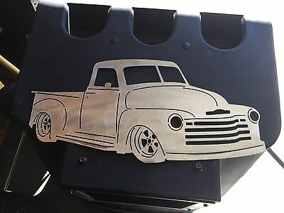 Plasma cut 1950 Chevy truck metal man cave sign garage art  Chevrolet