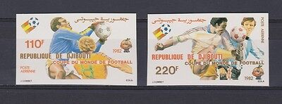 s5688) DJIBOUTI 1982 MNH** WC Football'82- CM Calcio 2v IMPERF