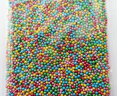 20g multi coloured metalic 100s & 1000s SPRINKLES edible cake decoration toppers