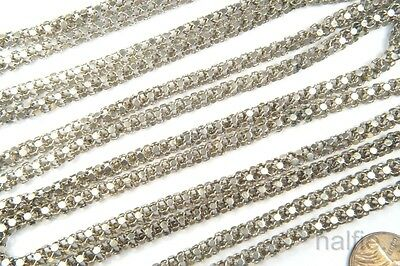Attractive Antique Silver Long Guard / Muff Chain Necklace