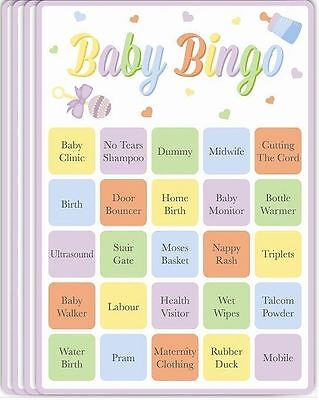 15 Baby Bingo Cards Baby Shower Game Party Boy Girl Neutral Activity