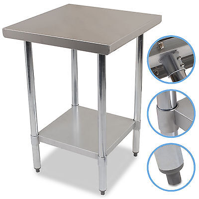 """24"""" x 24"""" STAINLESS STEEL PRO CATERING KITCHEN FOOD PREP WORKTOP TABLE BENCH"""
