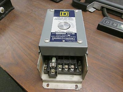 Square D Type GP Ground Powered Time Delay Ground Fault Relay GP-200C Used