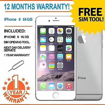 Apple iPhone 6 16GB Factory Unlocked - White / Silver - Faulty Touch ID