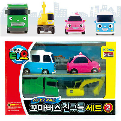 TAYO the Little Bus Friends Mini 4 Cars B Set Toy Characters Children Kids Gift