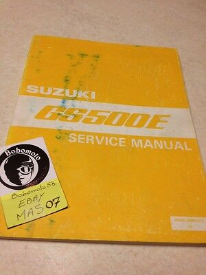 Suzuki GS500E GSE 500 GS500 E 500 GS E manuel atelier workshop service manual