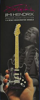 Jimi Hendrix Fender Strat Tribute Miniature Guitar And Stand By Axe Heaven