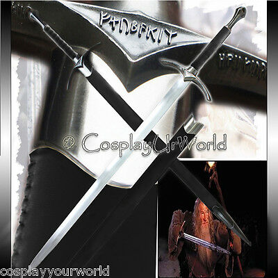 LOTR Lord of the Rings The Hobbit Gandalf Glamdring White Wizard Sword Medieval