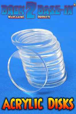 Acrylic Disk Circles 33mm Diameter 3mm Thick x 100 pieces Clear