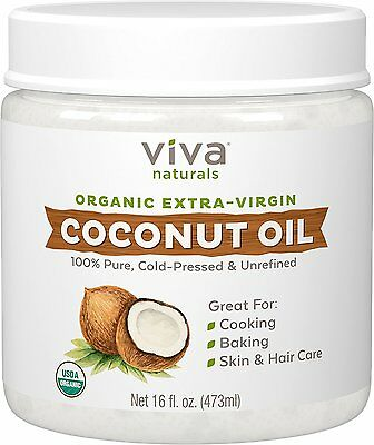 Viva Labs The Finest Organic Extra Virgin Coconut Oil, 16 Ounce from Viva Labs