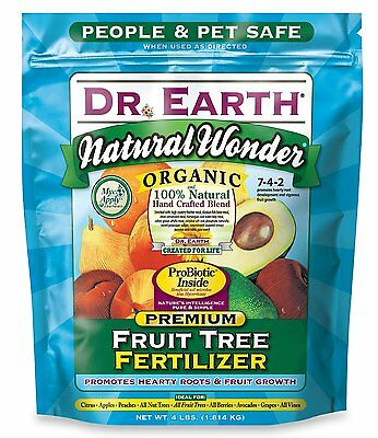Dr. Earth 708P Organic 9 Fruit Tree Fertilizer In Poly Bag, 4-Pound Qty:1 708P