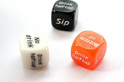 1x 6 sided Dice Drinking Games Adult jokes gags novelty Hens Night Party Favours