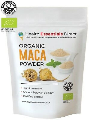Organic Raw Maca Powder (Premium 4 Root, Peruvian Superfood) Choose Size