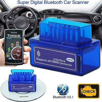 "V2.1 Bluetooth ODB2 Android Car Scanner Torque Auto Scan Diagnostic Tool "" New"