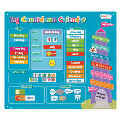 Childrens Magnetic Board Countdown Calendar - How Many Days Until.....