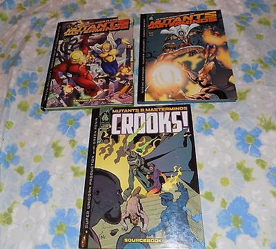 LOT 3 Used Mutants & Masterminds RPG Books GRR2201 Core GRR2501 Core GRR2005 Sou