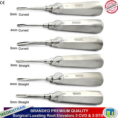 Luxating Extraction Instrument Kit for Broken Root and Teeth,Straight and Curved